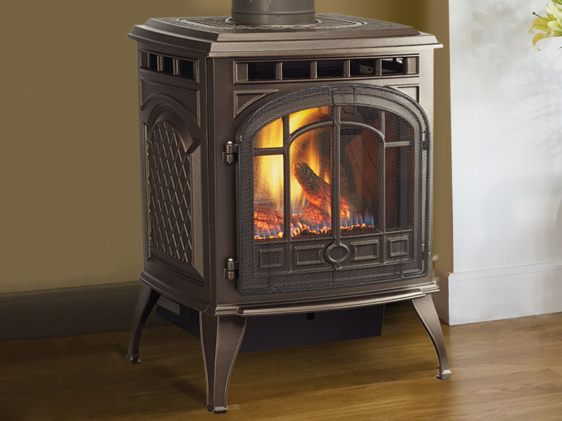 Sapphire gas stove by Quadra-Fire